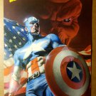 Captain America US USA Flag Marvel Comics Poster by Rudolfo Migliari