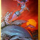 Fathom Swimming with Dolphins Top Cow Poster by Michael Turner