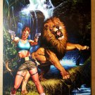 Tomb Raider Lara Croft Lion Top Cow Comics Poster by Joe Jusko