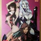 Vampirella Lady Death Witchblade Babes Harris Comics Poster by Adam Hughes