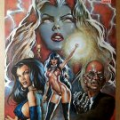 Vampirella Lady Death Harris Comics Wizard Poster by Mark Texeira