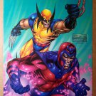 Wolverine Magneto Marvel Comic Poster by Brandon Peterson