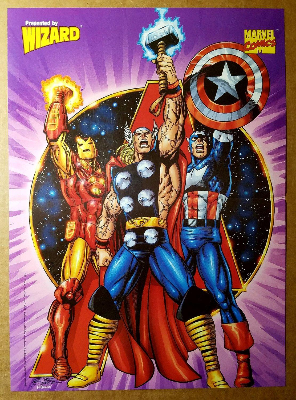 Avengers Thor Captain America Iron Man Marvel Comics Poster by George Perez