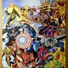 Avengers Thunderbolts Marvel Comics Poster by George Perez