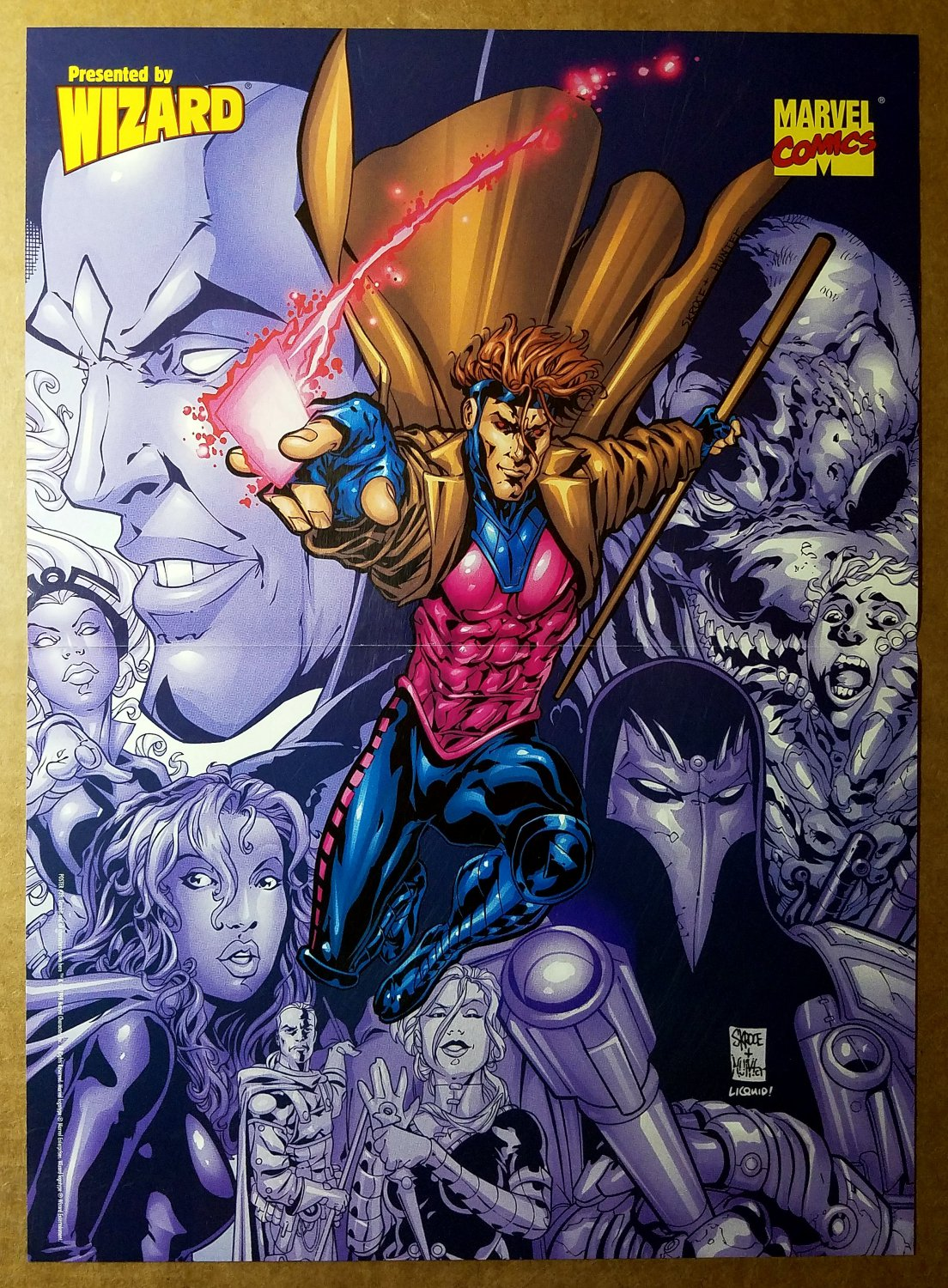 X-Men Gambit Storm Mr Sinister Marvel Comics Poster by Steve Skroce