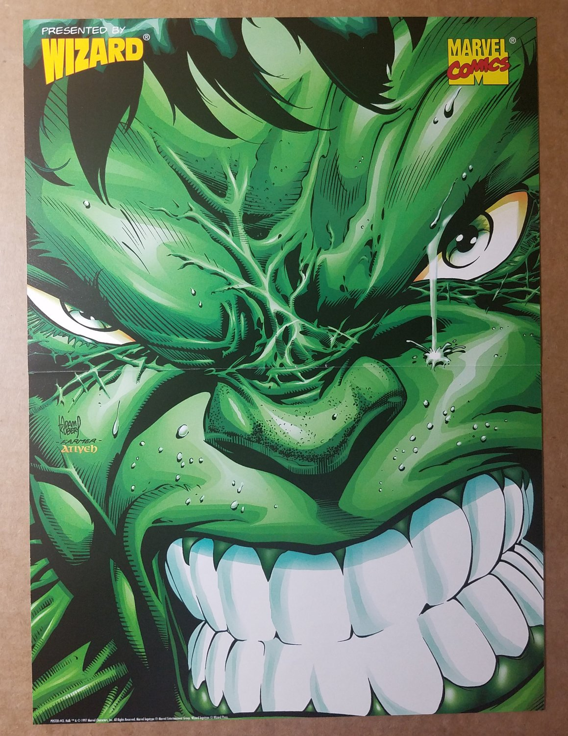 Avengers Hulk Marvel Comics Poster by Andy Kubert