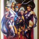Storm Jean Grey Rogue Psylocke X-Men Ladies Marvel Poster by Julie Bell