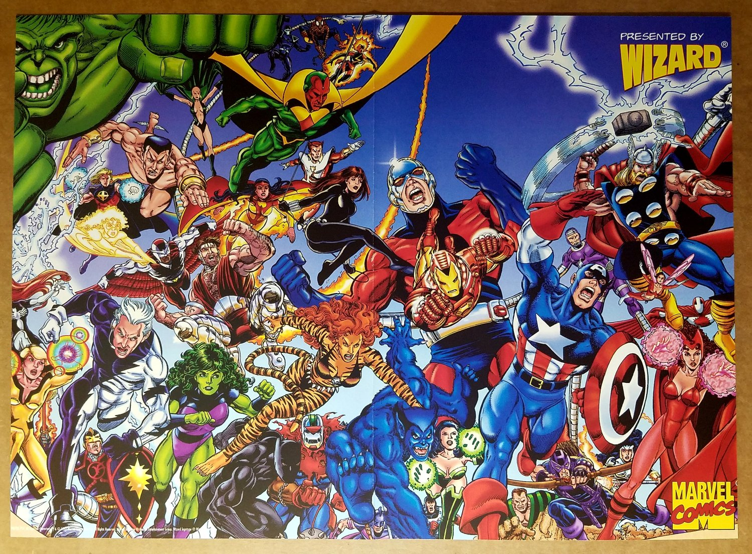 Avengers Captain America Black Widow Black Panther Marvel Poster by George Perez