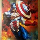 Captain America Marvel Comics Poster by Julie Bell