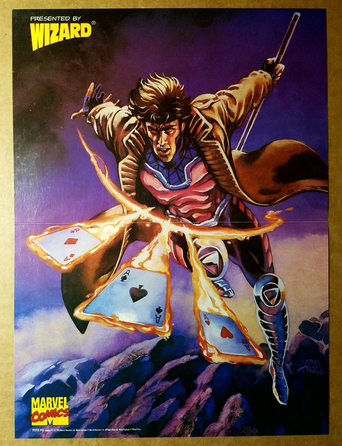 Gambit Marvel Comics Poster by Ray Lago