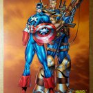 Captain America Cable Marvel Comic Poster by Rob LieFeld