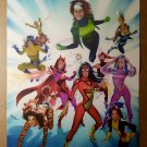 Woman of Marvel Heroes and Villains Marvel Comics Poster by Mike Mayhew