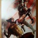 Wolverine Vs Blade Vampire Hunter Marvel Comics Poster by Adi Granov