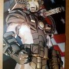 US U.S War-Machine James Rhodes Iron Man Marvel Comics Poster by Chuck Austen