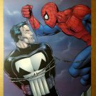 Spider-Man catches The Punisher Marvel Comics Poster by Steve Dillon