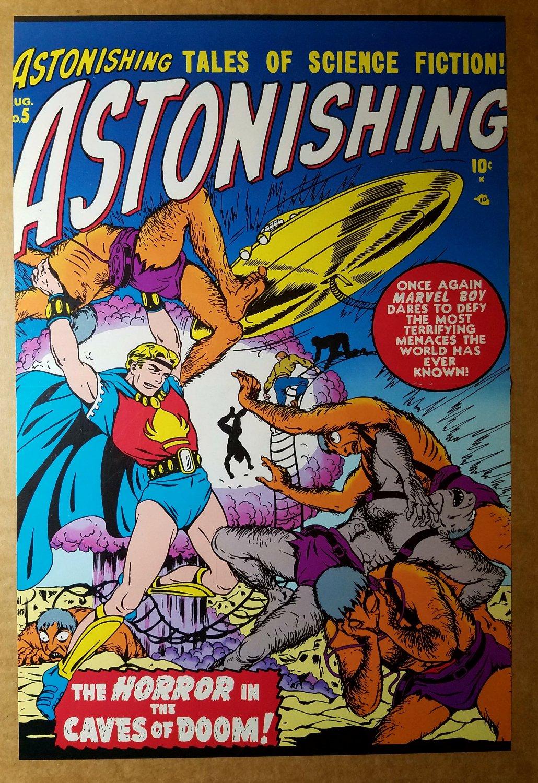 Astonishing 5 Marvel Boy Marvel Comics Poster by Bill Everett