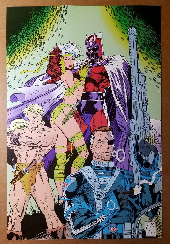 Uncanny X-Men 274 Rogue Magneto Kazar Marvel Comics Poster by Jim Lee