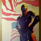 Iron Man American Flag Marvel Comics Poster by Gerald Parel