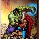 Hulk Thor Avengers Defenders War Marvel Comics Poster by Gary Frank