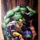 Hulk Wolverine Marvel Comics Poster by Lee Weeks