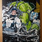 Incredible Hulk and Punisher Marvel Comics Poster by Dale Keown
