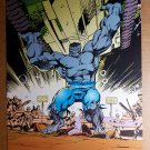 Incredible Hulk picks up tank Marvel Comics Poster by Dale Keown