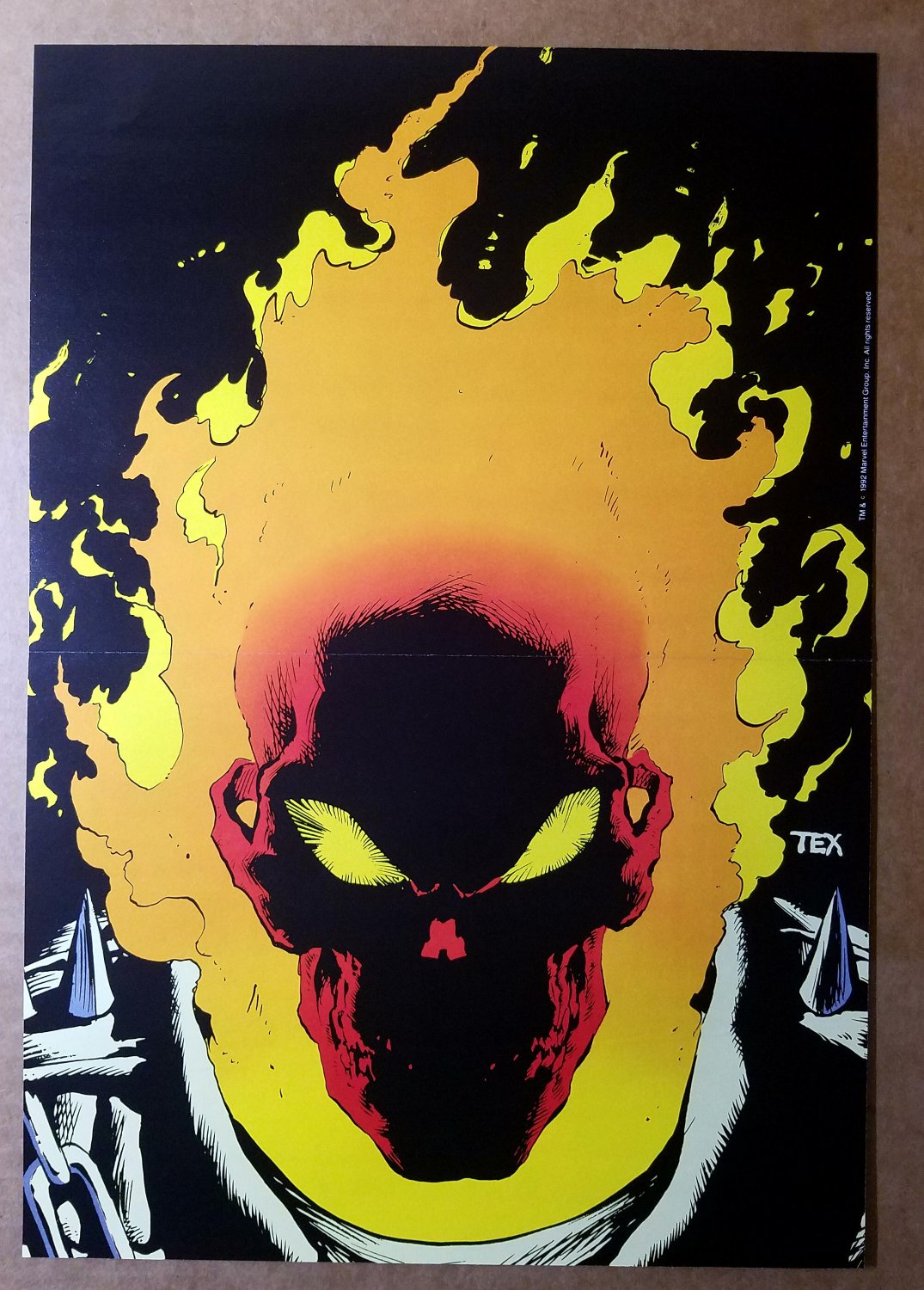 Ghost Rider 12 Marvel Comics Poster by Mark Texeira