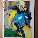 Ghost Rider Marvel Comics Mini Poster by Bret Blevins