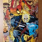 Ghost Rider Spider Man Marvel Comics Mini Poster by Erik Larsen