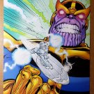 Fantastic 4 Silver Surfer Thanos Infinity War Marvel Comics Poster by Ron Lim