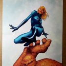 Fantastic Four The Thing Invisible Woman Marvel Comics Poster by Steve McNiven