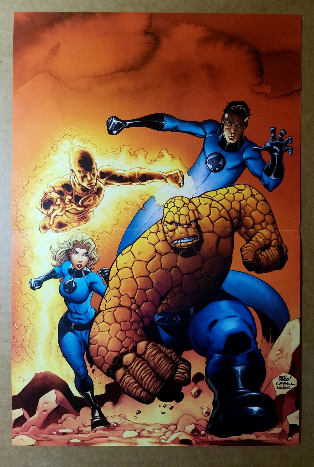 Fantastic Four Charge Marvel Comics Poster by Mike Wieringo