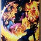 Fantastic Four Vs Super Skrull Marvel Comics Poster by Jim Cheung