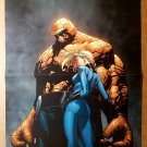 The Thing Invisible Woman Fantastic Four Marvel Comics Poster by McNiven