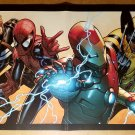 Iron Man Wolverine Spider-Man Fear Itself Marvel Comics Poster by Steve McNiven