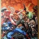 The Fearless 1 Captain America FF4 Thor Valkyrie Marvel Poster Arthur Adams