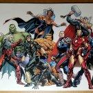 Fear Itself Avengers Hulk X-Men Black Panther Marvel Poster by Stuart Immonen