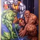 Fear Itself Hulk Colossus The Thing Thors Hammer Marvel Poster by Dale Eaglesham
