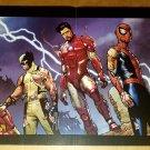 Ms Marvel Spider-Man Wolverine Hawkeye Marvel Comics Poster by Steve McNiven