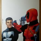 Deadpool and Punisher Marvel Comics Poster by Steve Dillon