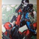 Deadpool Domino Marvel Comics Poster by Patrick Zircher