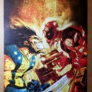 Wolverine Deadpool Marvel Comics Poster by Skottie Young