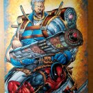 Cable Deadpool Marvel Comics Poster by Rob Liefeld