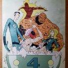 Deadpool Fantastic Four Marvel Comics Poster by Skottie Young