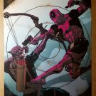 X-Men Deadpool Vs Hawkeye Marvel Comics Poster by Jason Pearson