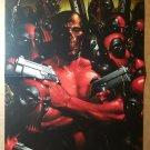 X-Men Deadpool Skrulls Zombies Marvel Comics Poster by Clayton Crain