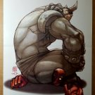 Deadpool 66 Vs Rhino Marvel Comics Poster by Arnold Tsang