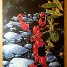 Deadpool Hitchhiker Marvel Comics Poster by Jim Calafiore