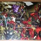 Deadpool Vs Skrulls Marvel Comics Poster by Paco Medina