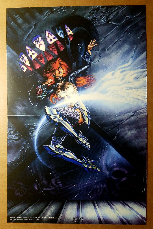 Dawn Dancing Masks Sirius Comics Poster by Joseph Michael Linsner